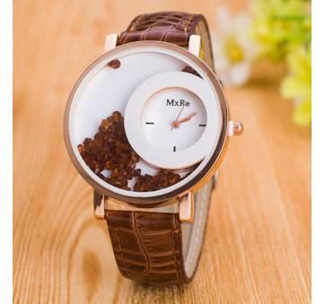 Женские Часы наручные Hesiod коричневые 7041
