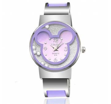 Детские Часы наручные Микки Маус, фиолетовые 7193
