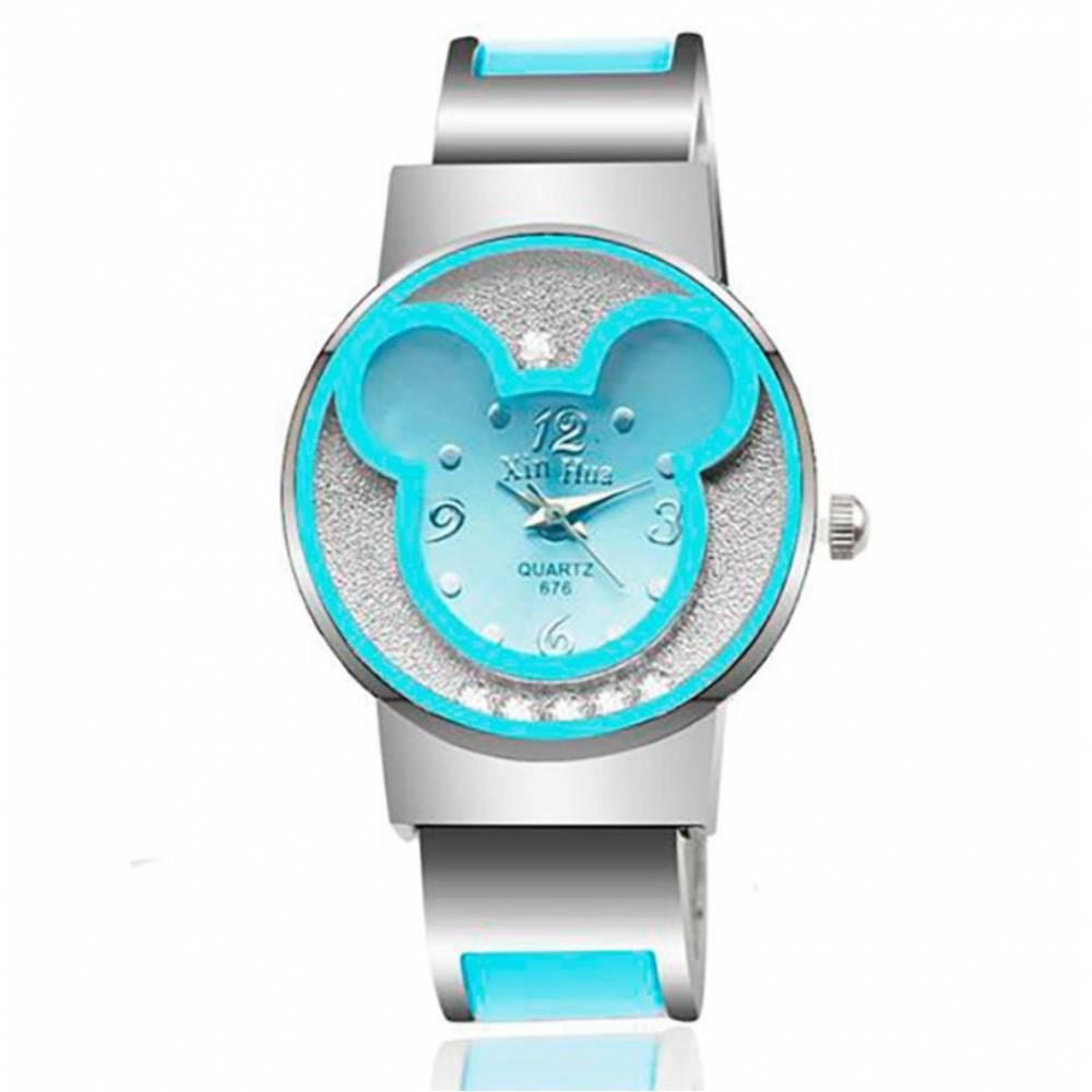 Детские Часы наручные Микки Маус, голубые 7194