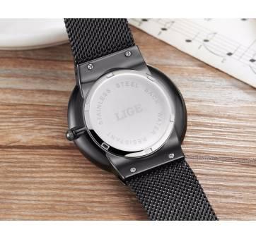 Мужские Часы наручные LIGE, серебристые 7198