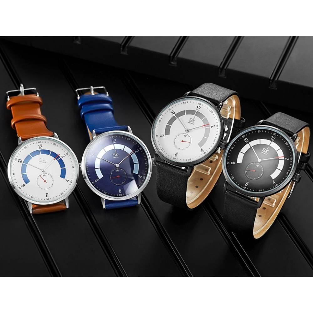 """Мужские Часы наручные """"SK"""", синие 7205"""