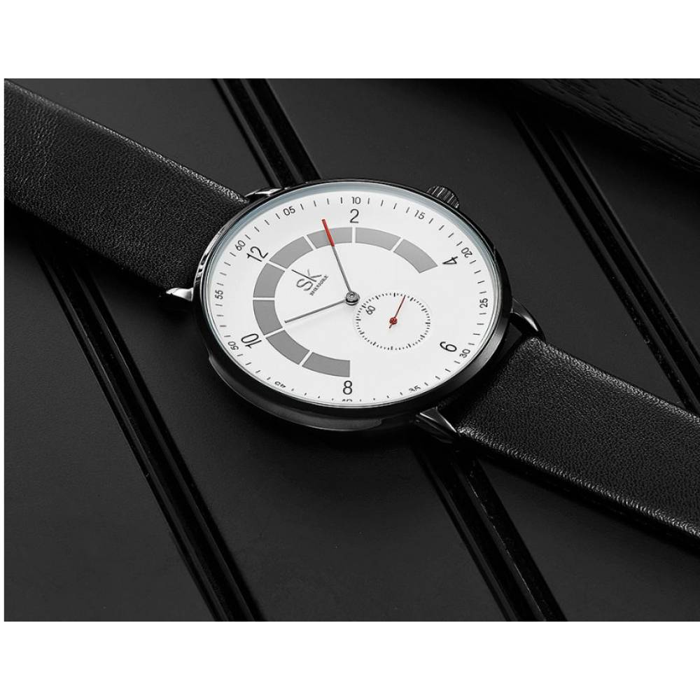 """Мужские Часы наручные """"SK"""", черные 7206"""