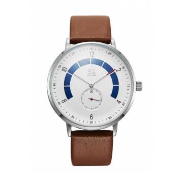 """Мужские Часы наручные """"SK"""", коричневые 7207"""