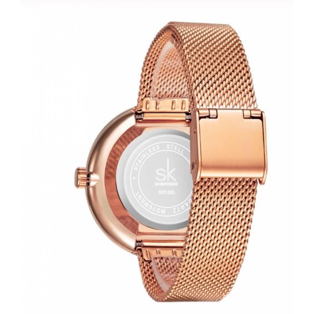 Женские Часы наручные SK, золотистые 7209