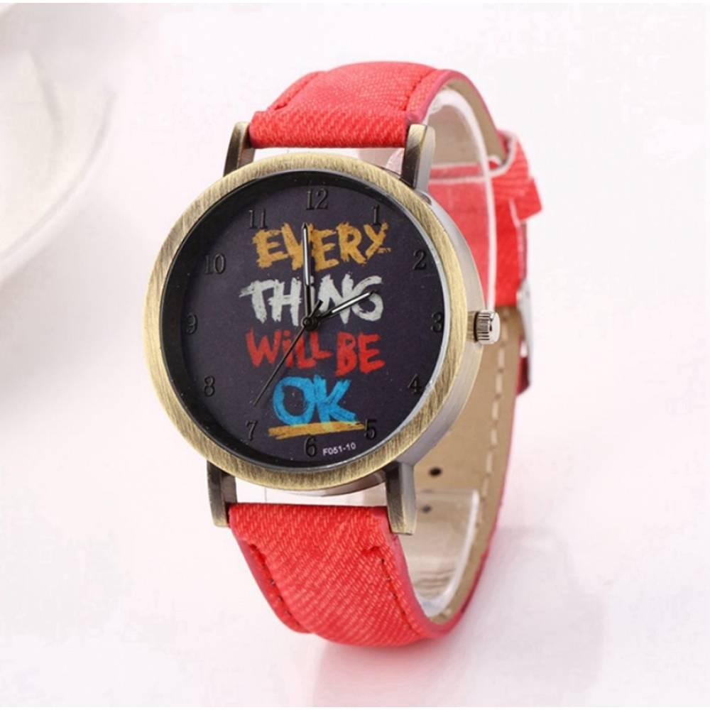 Женские Часы наручные LVPAI, красные 7250