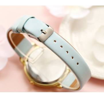 """Женские Часы наручные """"LVPAI"""" синяя бабочка, синие 7266"""