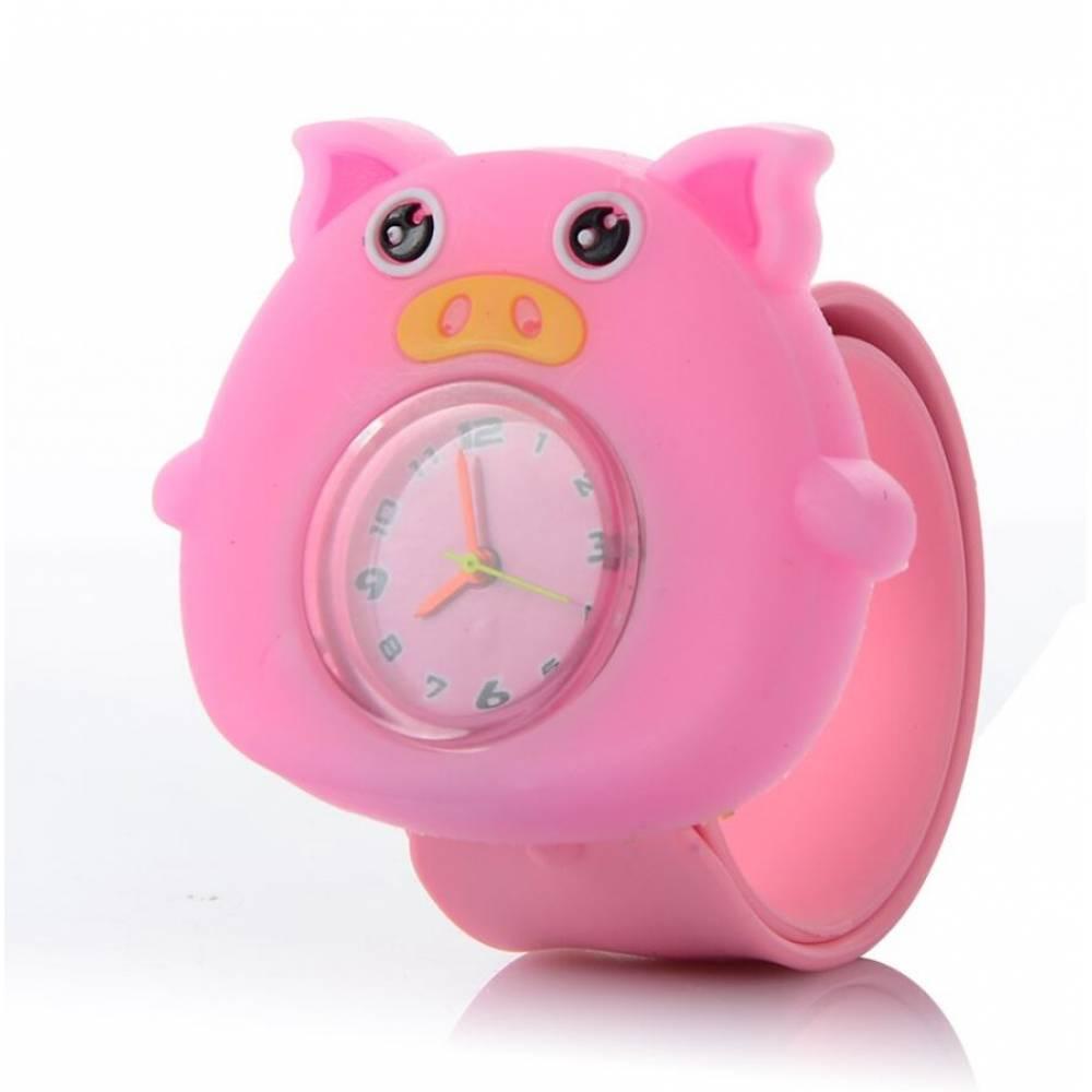 """Детские Часы наручные Vedd """"Свинка"""", розовые 7584"""