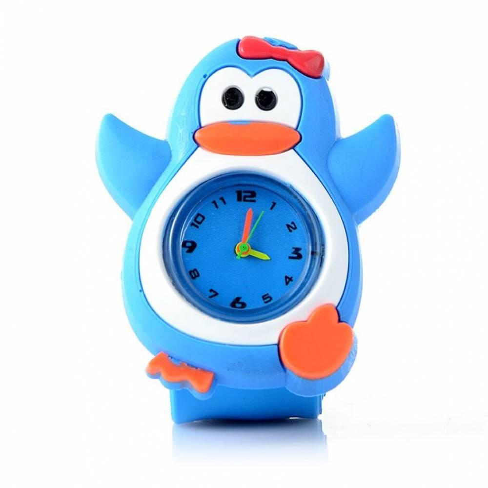 """Детские Часы наручные Vedd """"Пингвин"""", голубые 7585"""