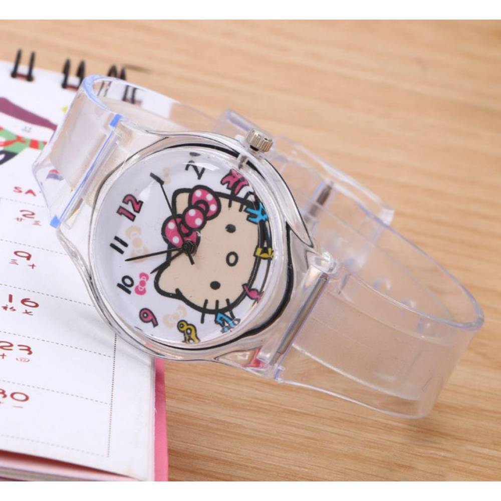 """Женские Часы наручные, прозрачные """"Hello Kitty"""" 7594"""