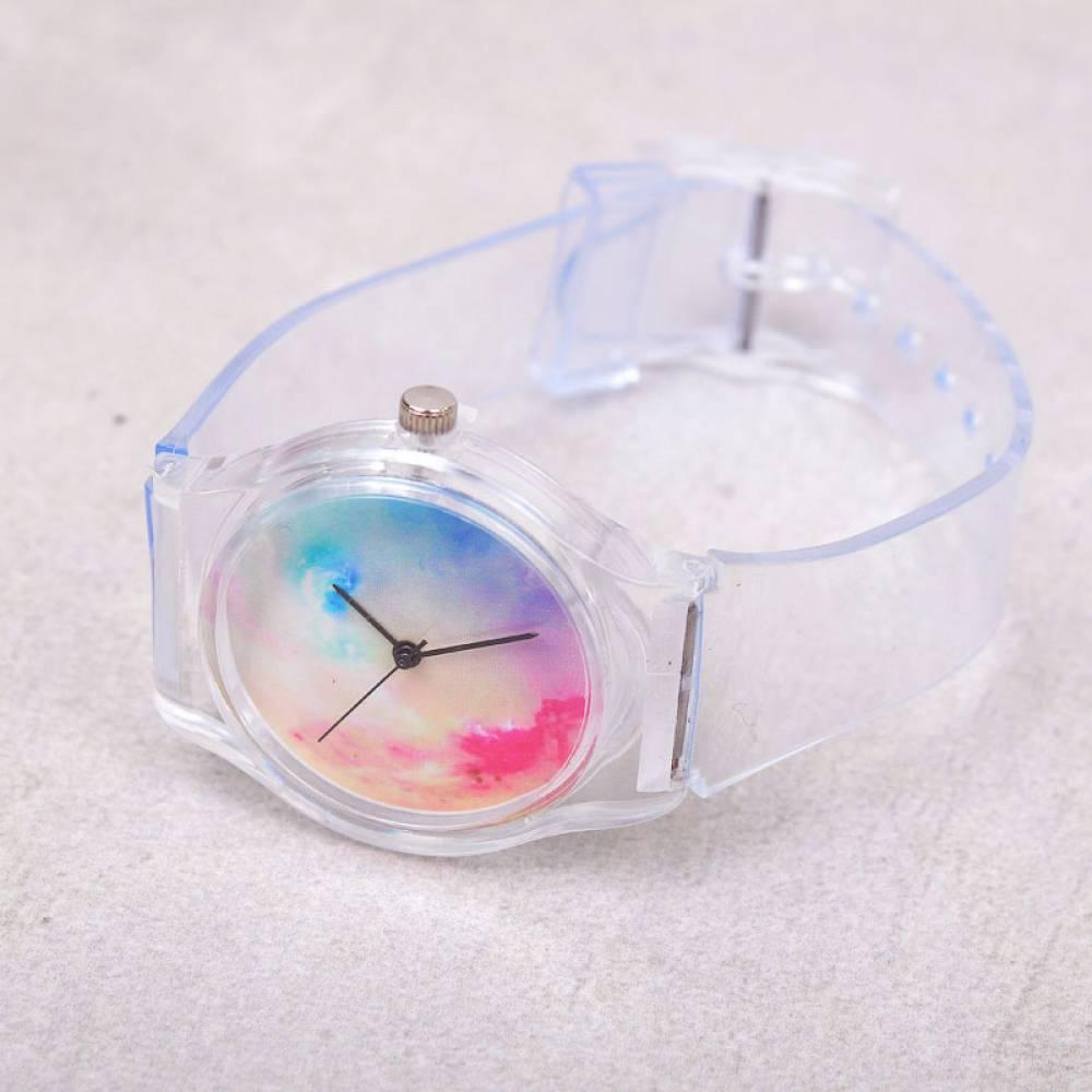 Женские Часы наручные, прозрачные 7596