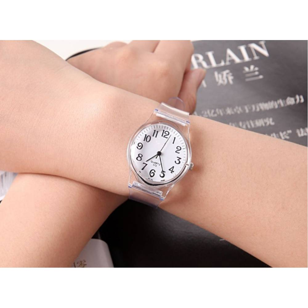Женские Часы наручные, прозрачные 7598