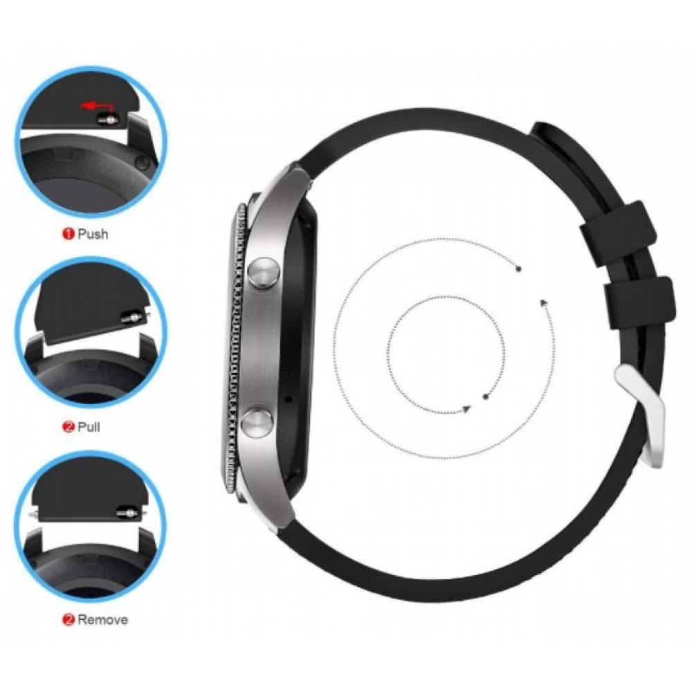 Ремешок для Gear S3, Samsung galaxy watch, серый 7647