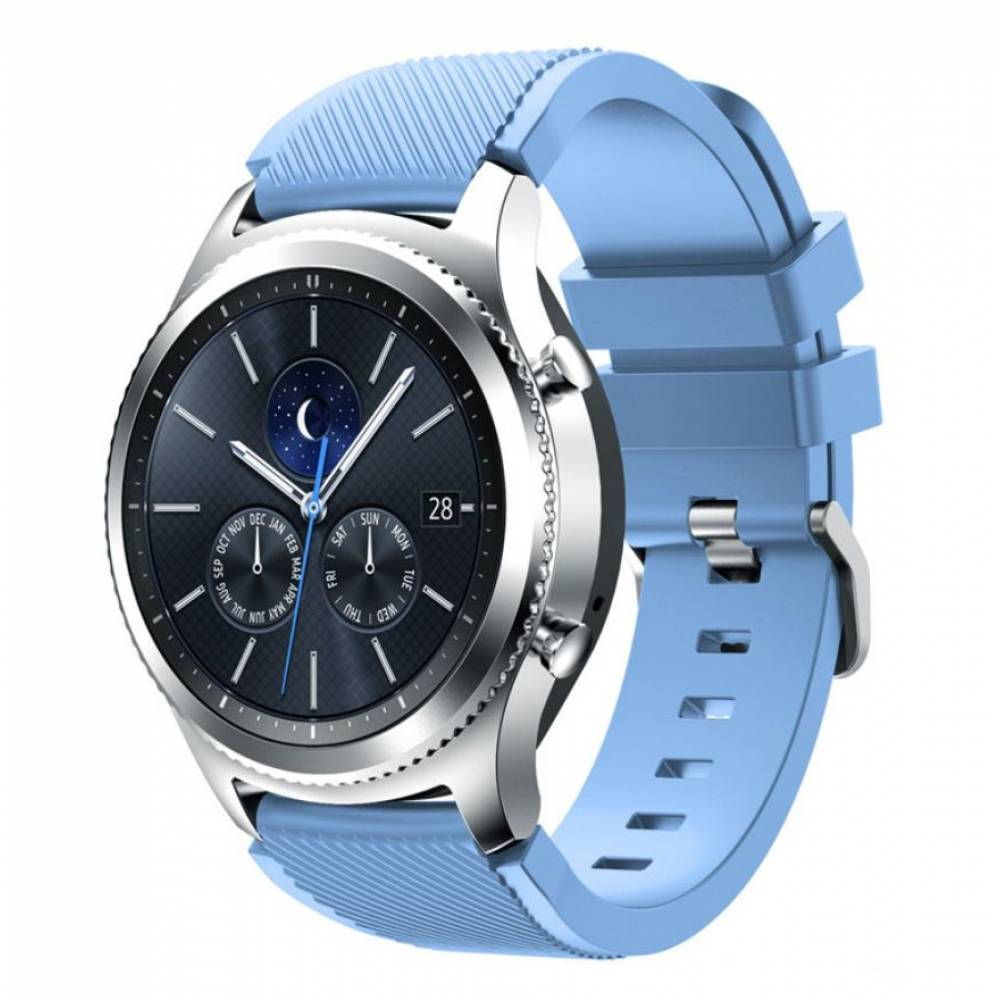 Ремешок для Gear S3, Samsung galaxy watch, голубой 7657