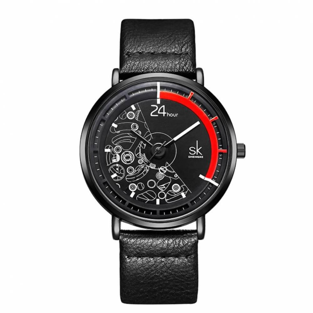 Женские Часы наручные SK, черные 7664
