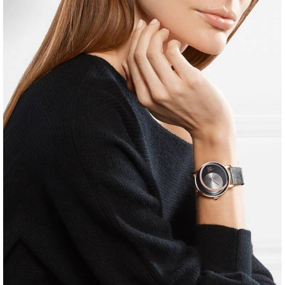 Женские Часы наручные SK, черные 8123