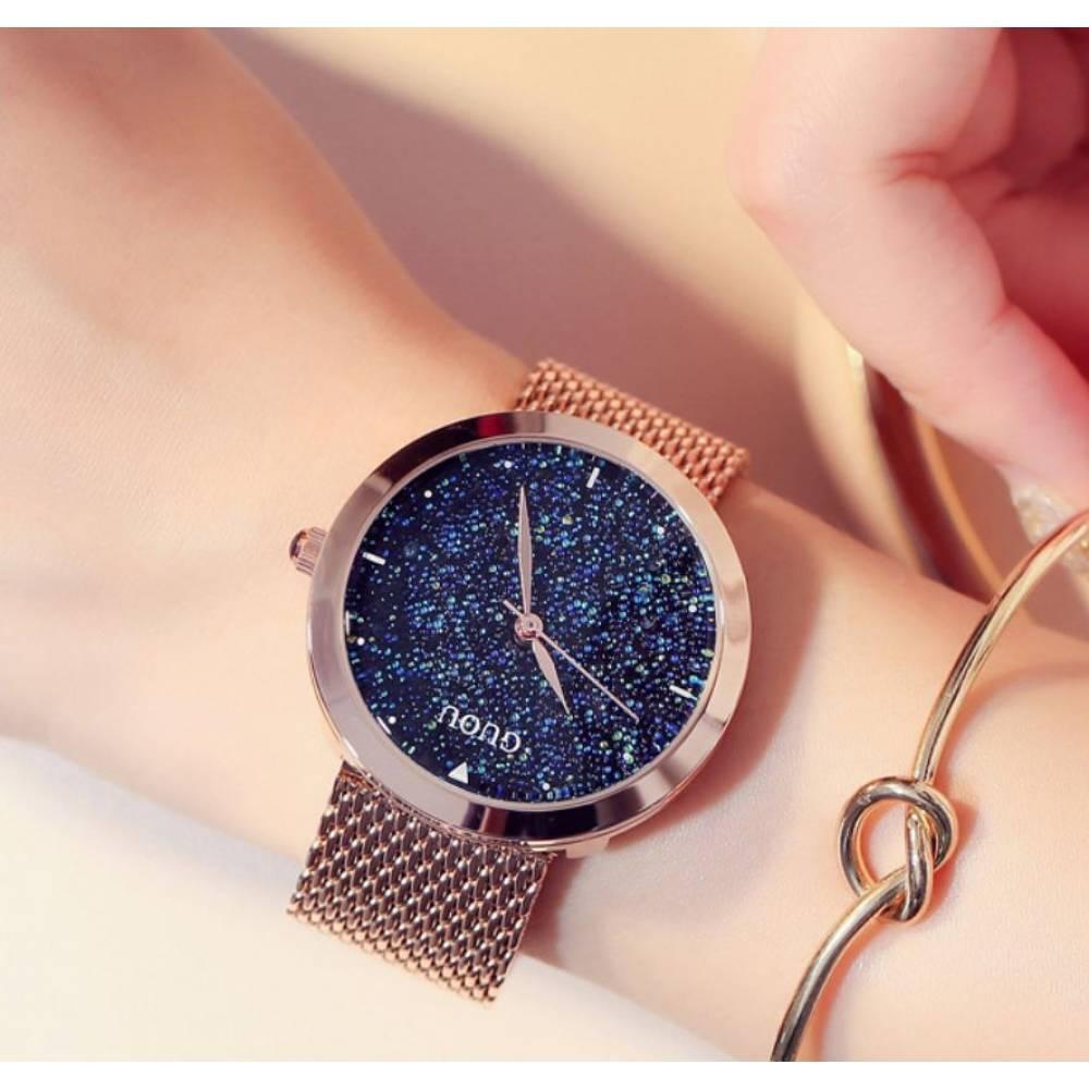 """Женские Часы наручные """"Luxury GUOU"""", золотистые 8204"""