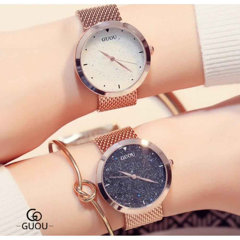 """Женские Часы наручные """"Luxury GUOU"""", золотистые 8205"""