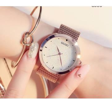 """Женские Часы наручные """"Luxury GUOU"""", золотистые 8206"""