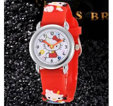 Детские Часы наручные Hello Kitty, красные 8236