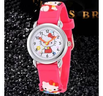 Детские Часы наручные Hello Kitty, красные 8237