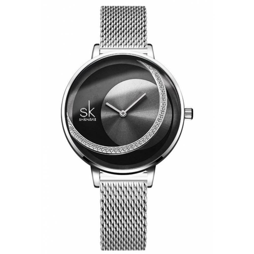 Женские Часы наручные SK, черные 8371