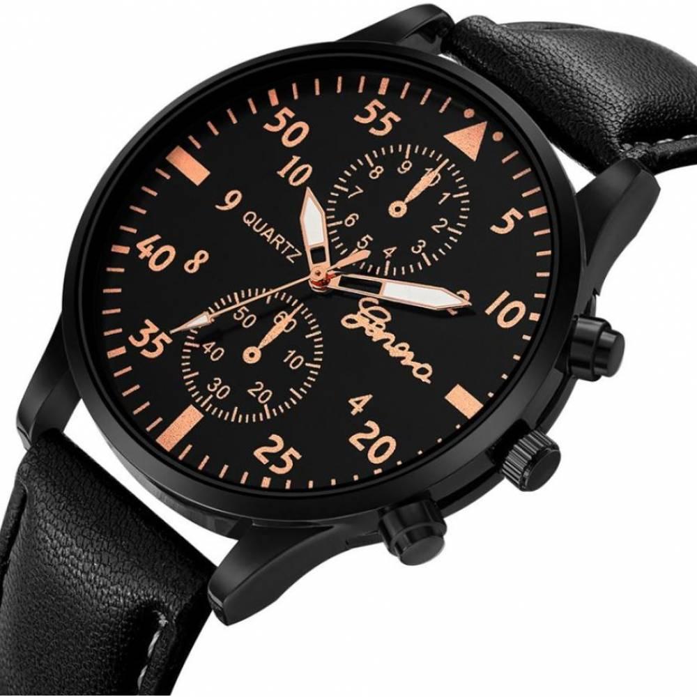 Мужские Часы наручные Duobla, черные 8400