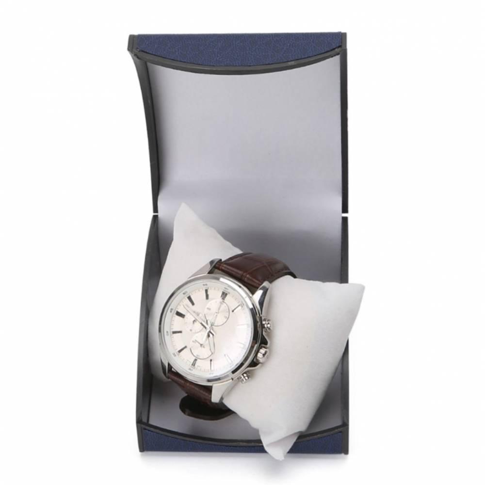 Коробка синяя для часов органайзер, упаковка 8526