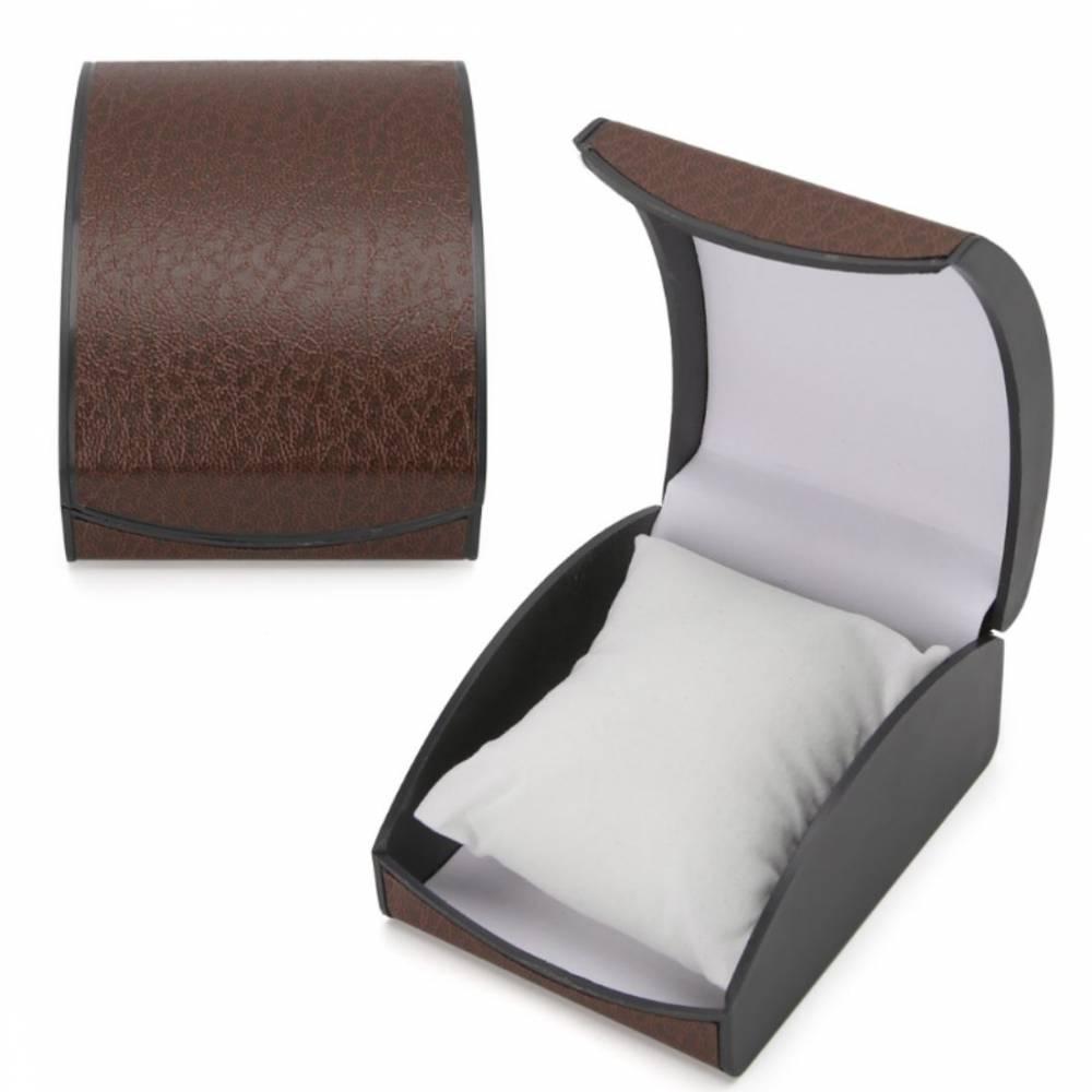 Коробка коричневая для часов органайзер, упаковка 8528
