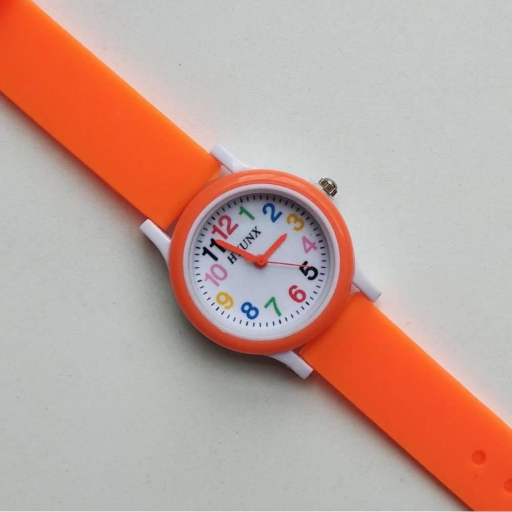 Детские Часы наручные, оранжевые 8543