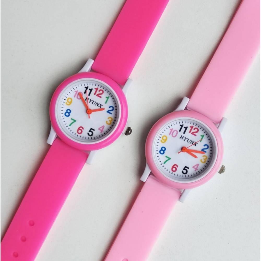 Детские Часы наручные, розовые 8548
