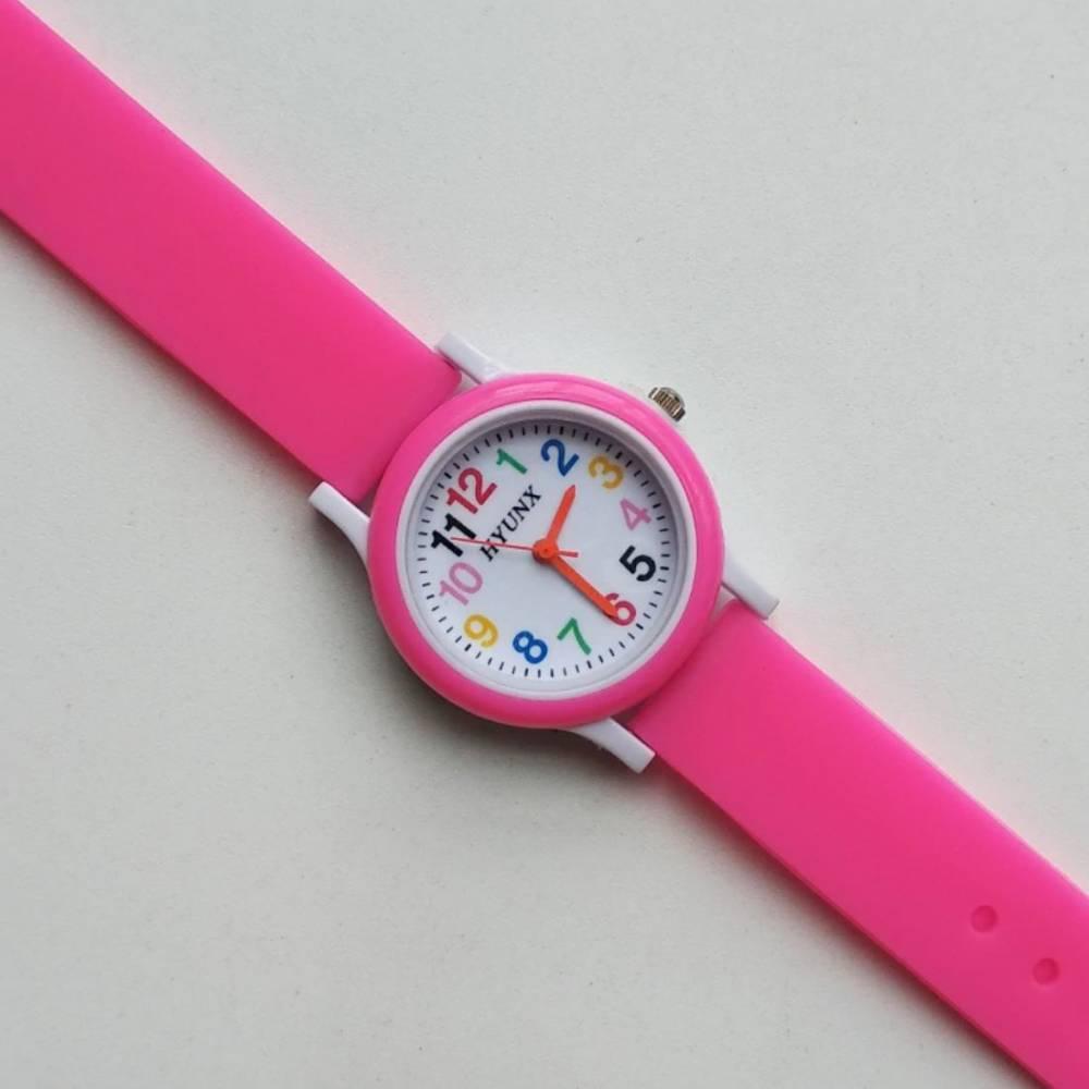 Детские Часы наручные, розовые 8549