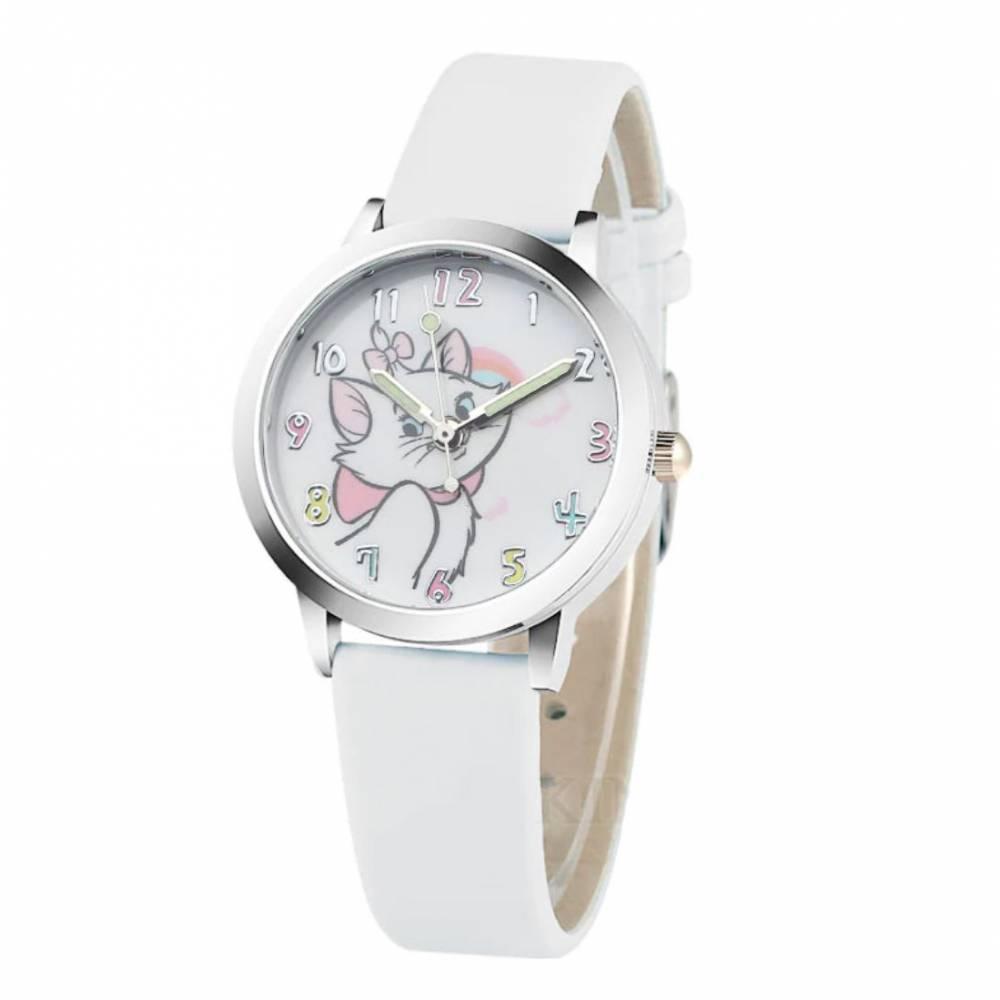 """Детские Часы наручные """"Коты-аристократы"""", белые 8561"""