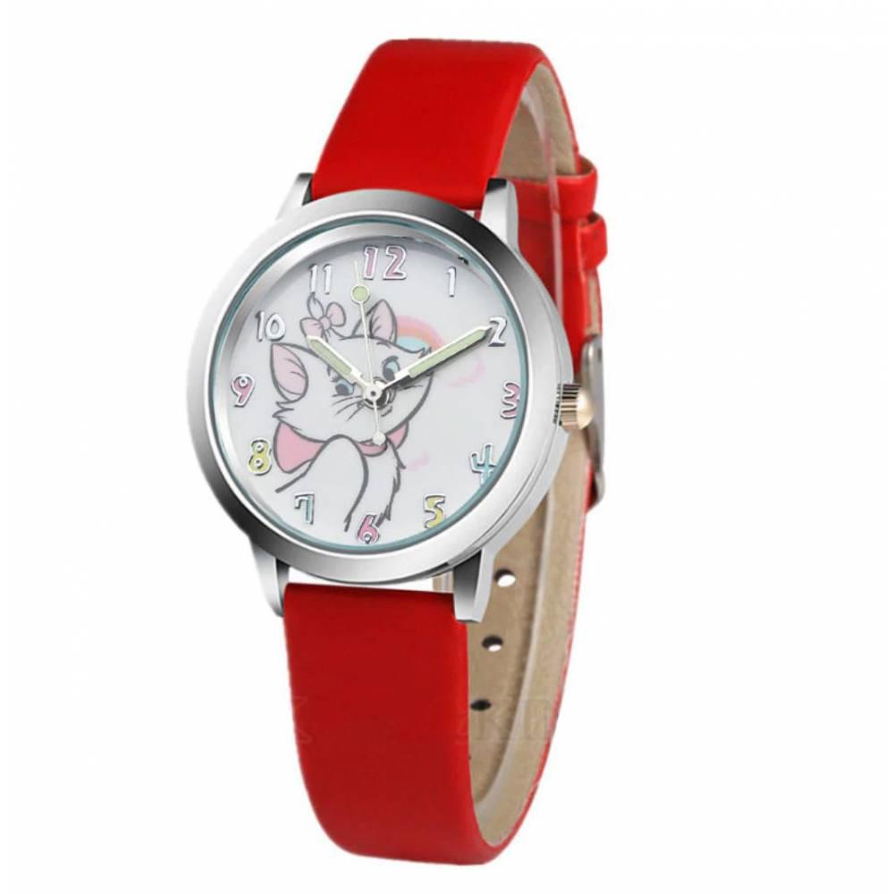 """Детские Часы наручные """"Коты-аристократы"""", красные 8562"""