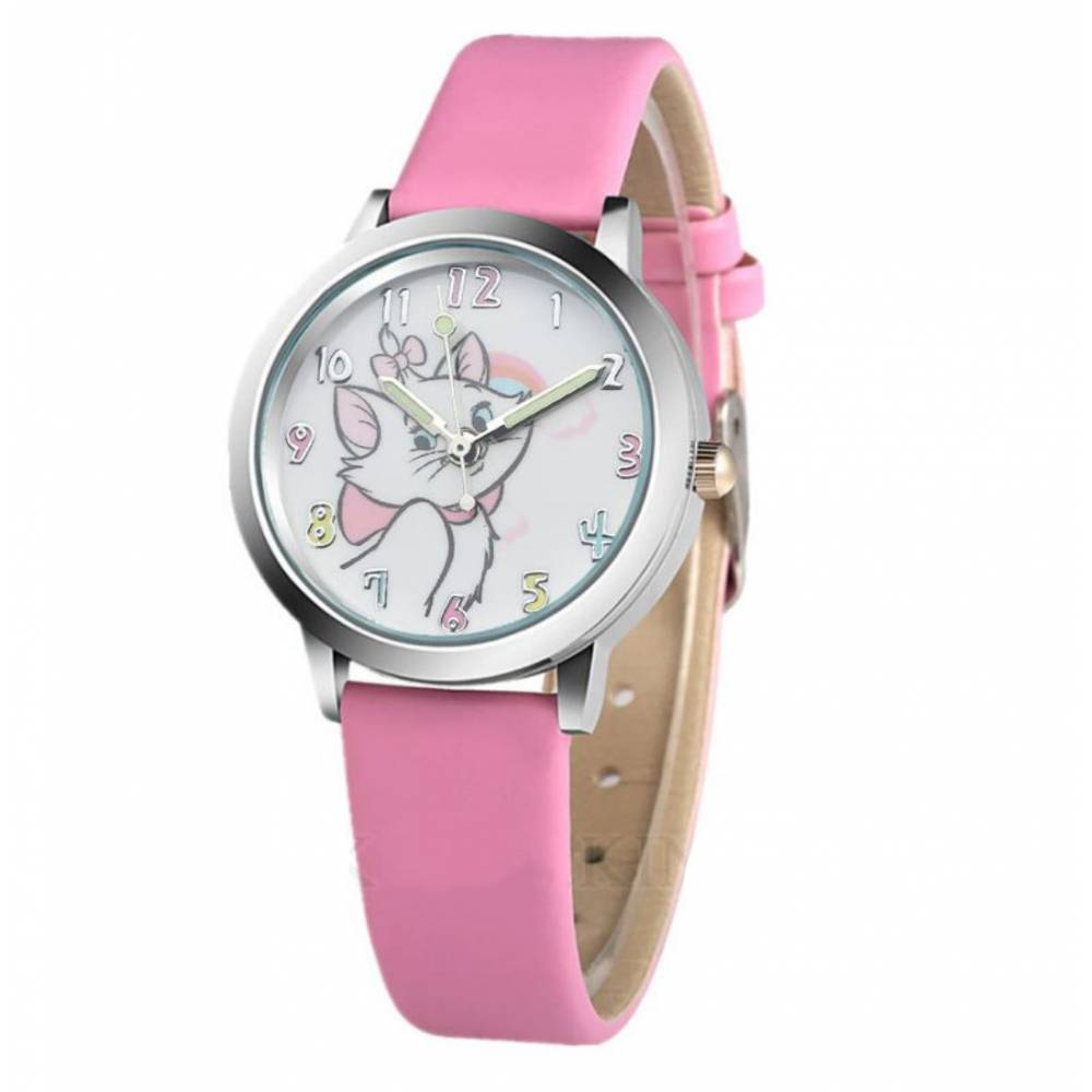 """Детские Часы наручные """"Коты-аристократы"""", розовые 8563"""