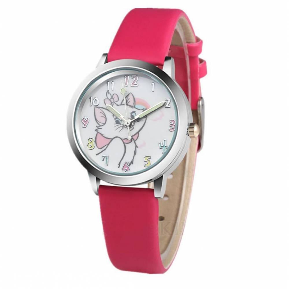 """Детские Часы наручные """"Коты-аристократы"""", розовые 8564"""