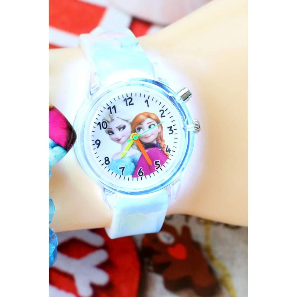 """Часы наручные Часики для детей """"Холодное сердце"""" с подсветкой 8565"""