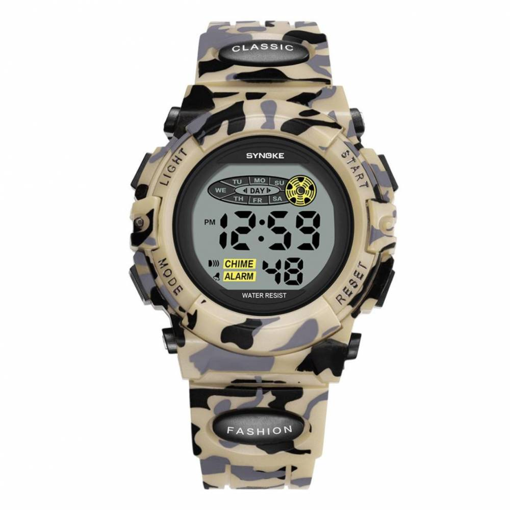 "Детские Часы наручные ""Military"" хаки 8607"