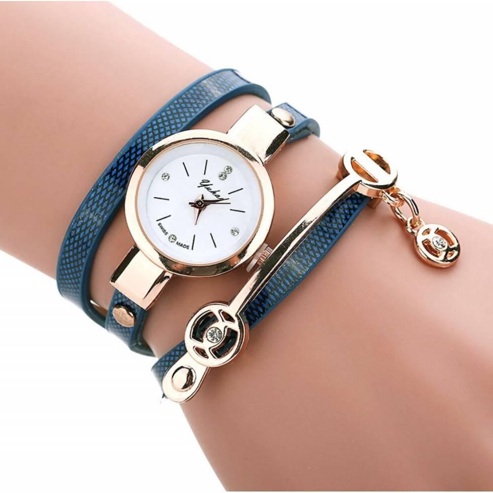 Женские Часы наручные Susenstone, синие 8609