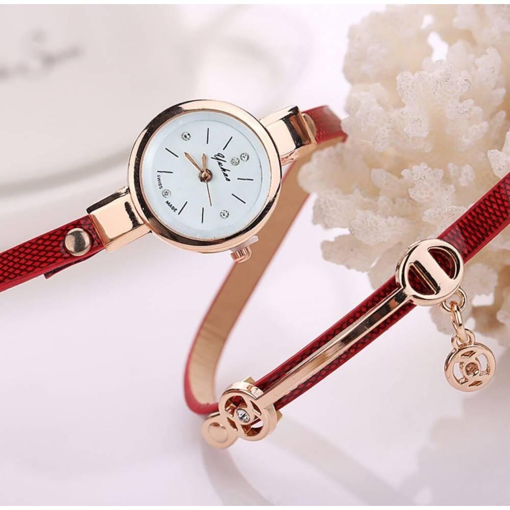 Женские Часы наручные Susenstone, красные 8610