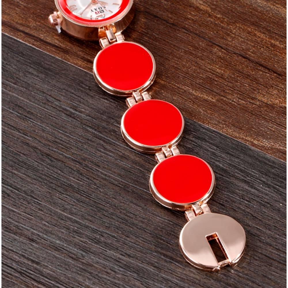 """Женские Часы наручные """"SOXY"""", красные 8635"""