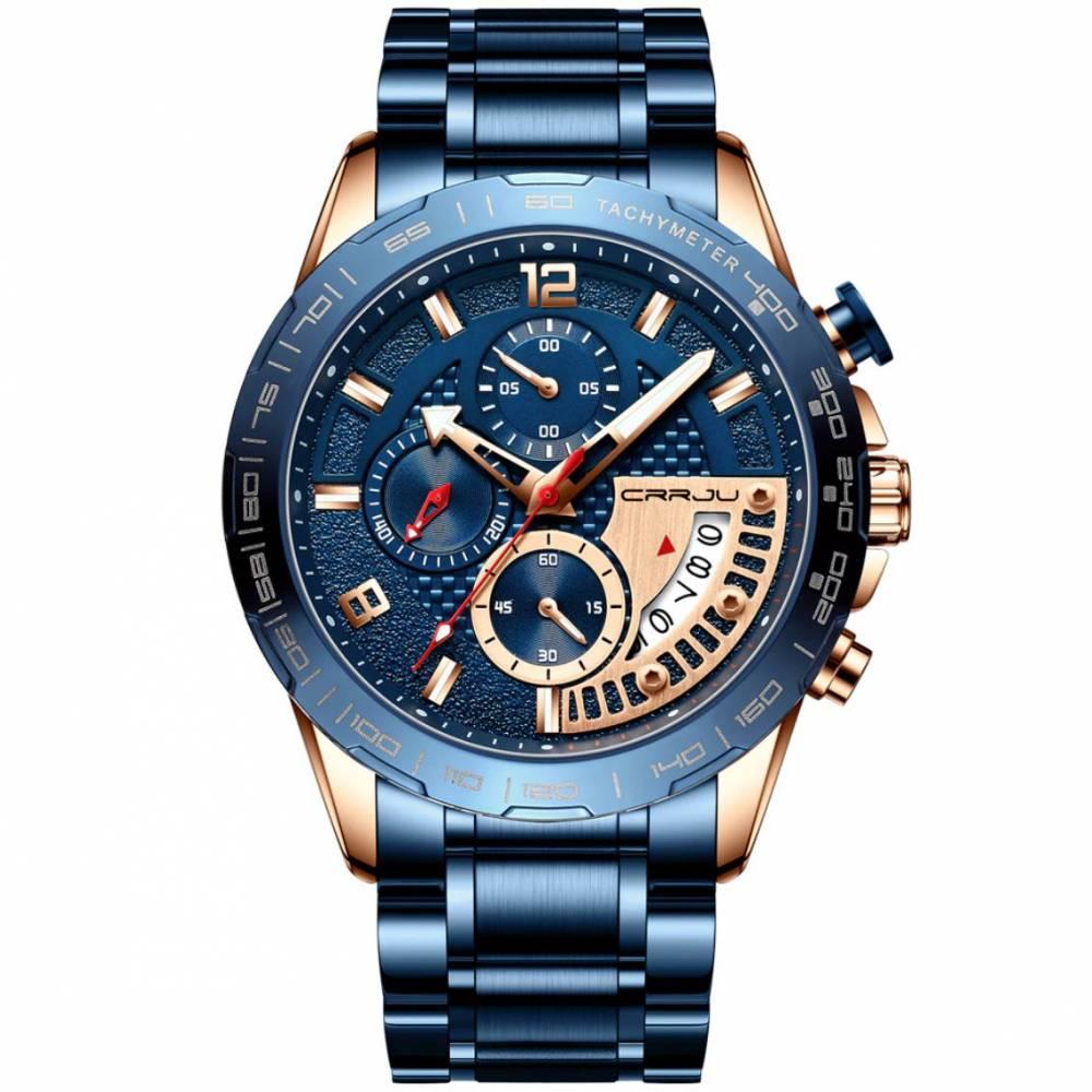 Мужские Часы наручные CRRJU, синие 8715