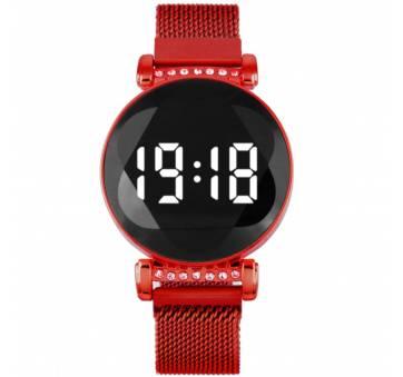 Женские Часы наручные, красные 8834