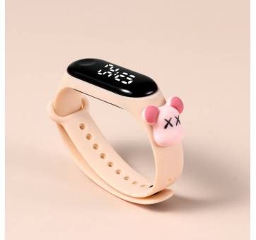 Детские Часы наручные, розовые 8845