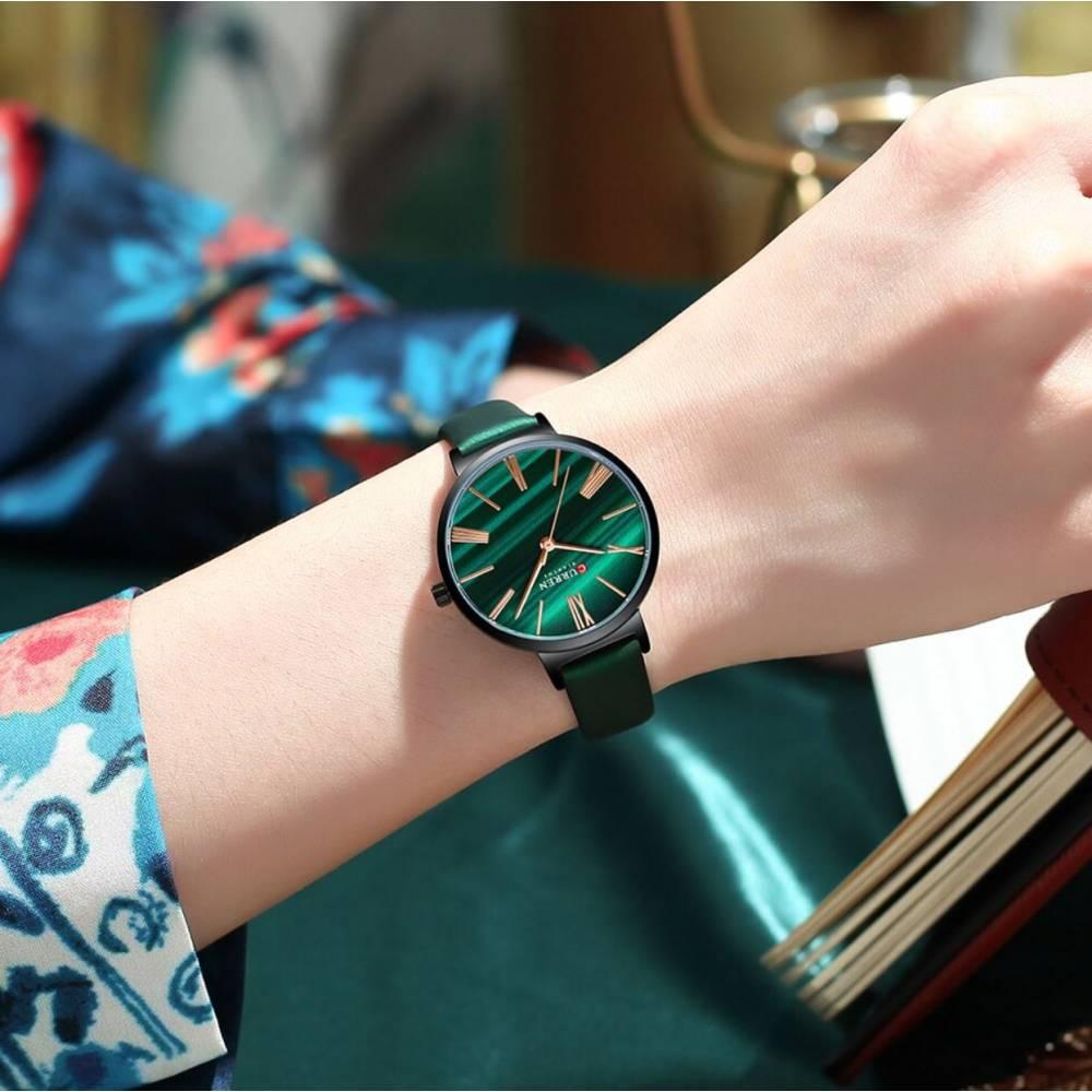 """Женские Часы наручные """"CURREN"""", зеленые 9029"""