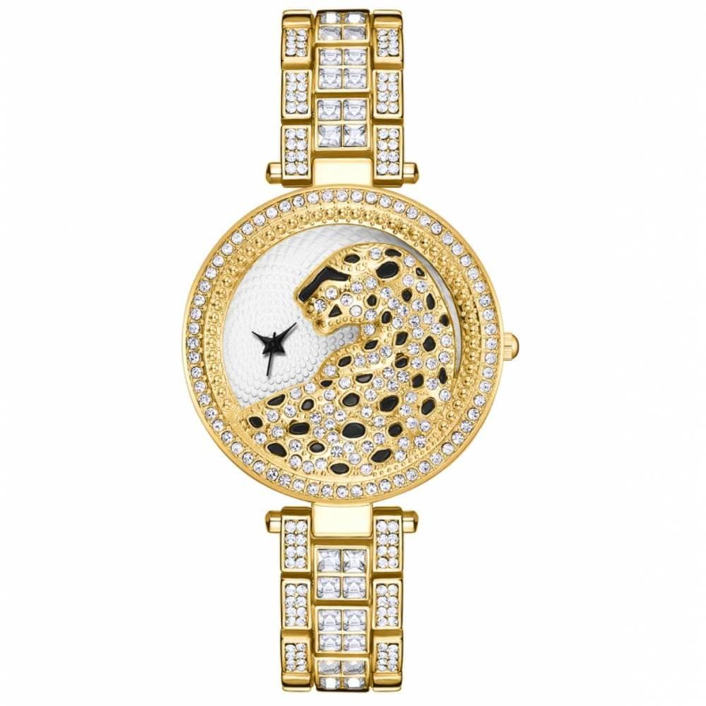"""Женские Часы наручные """"LVPAI"""" Леопард, золотистые 9042"""