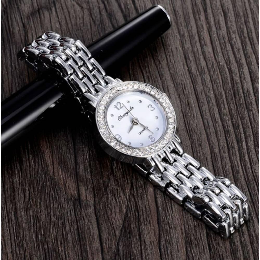 Женские Часы наручные, серебристые 9055
