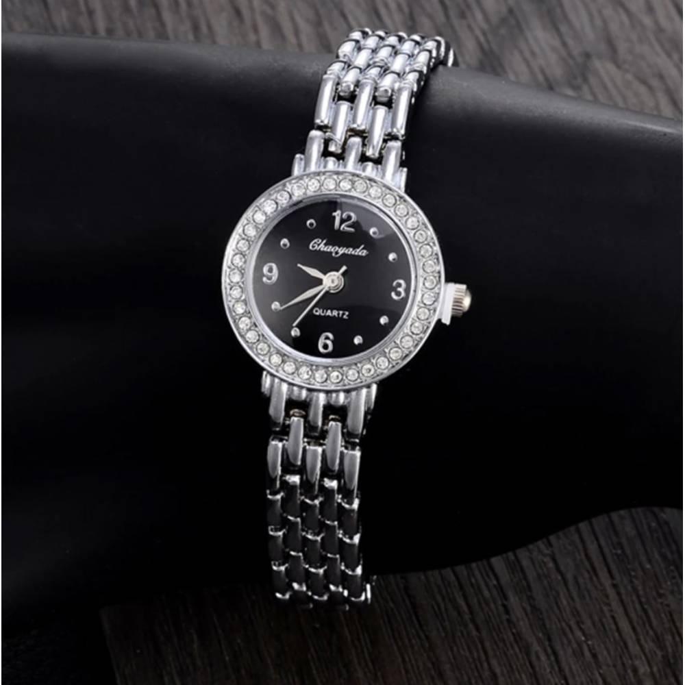 Женские Часы наручные, серебристые 9056