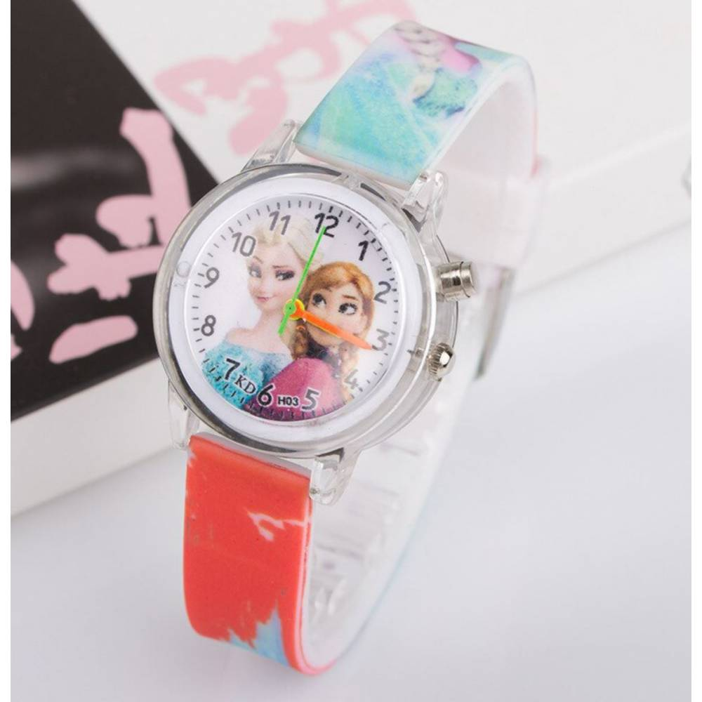"""Часы наручные Часики для детей """"Холодное сердце"""" с подсветкой 9321"""