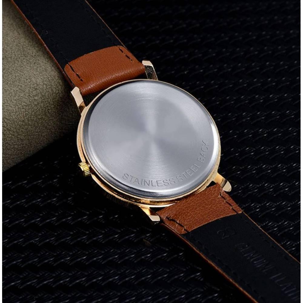 """Женские Часы наручные """"Ван Гог"""", коричневые 9427"""
