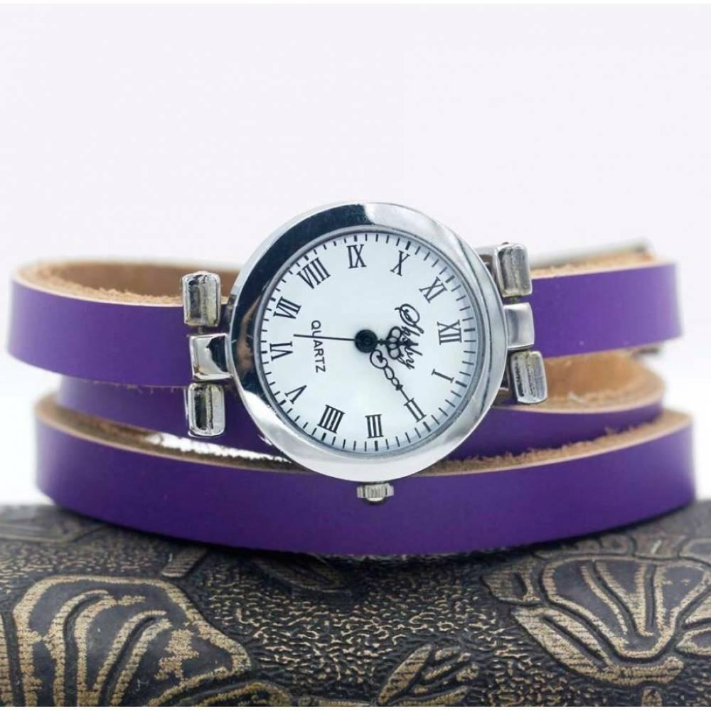 Женские Часы наручные с длинным ремешком, фиолетовые 9430
